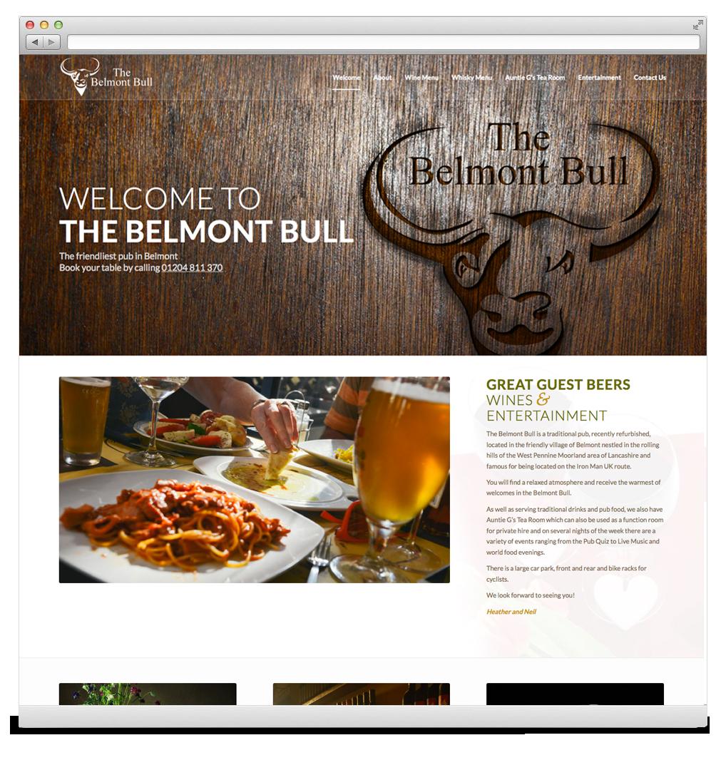 The Belmont Bull Website Development