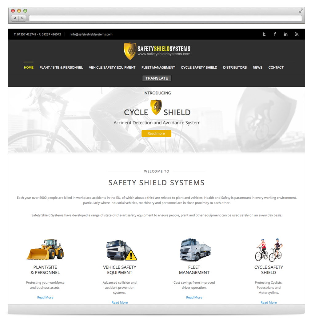 Safety Shield Systems Website Development
