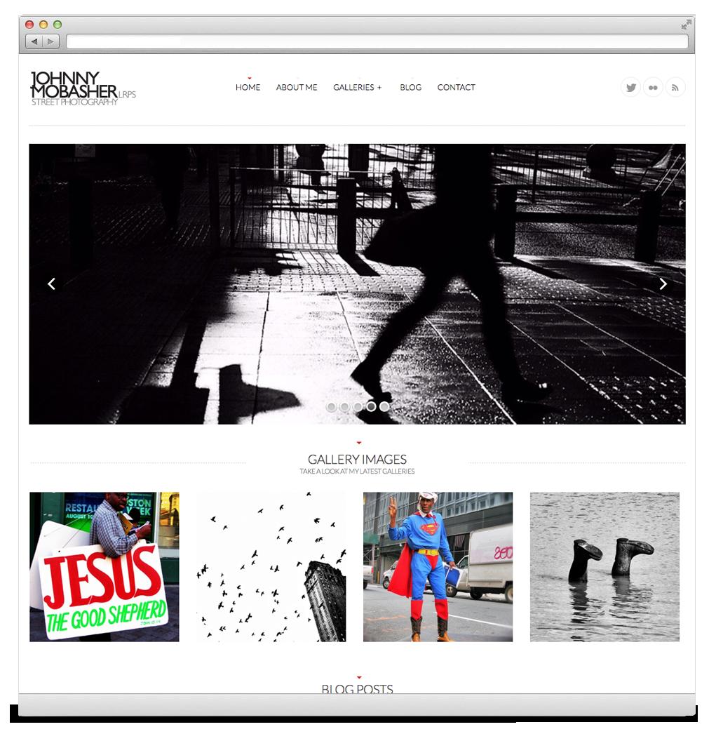 Street photography Website Development