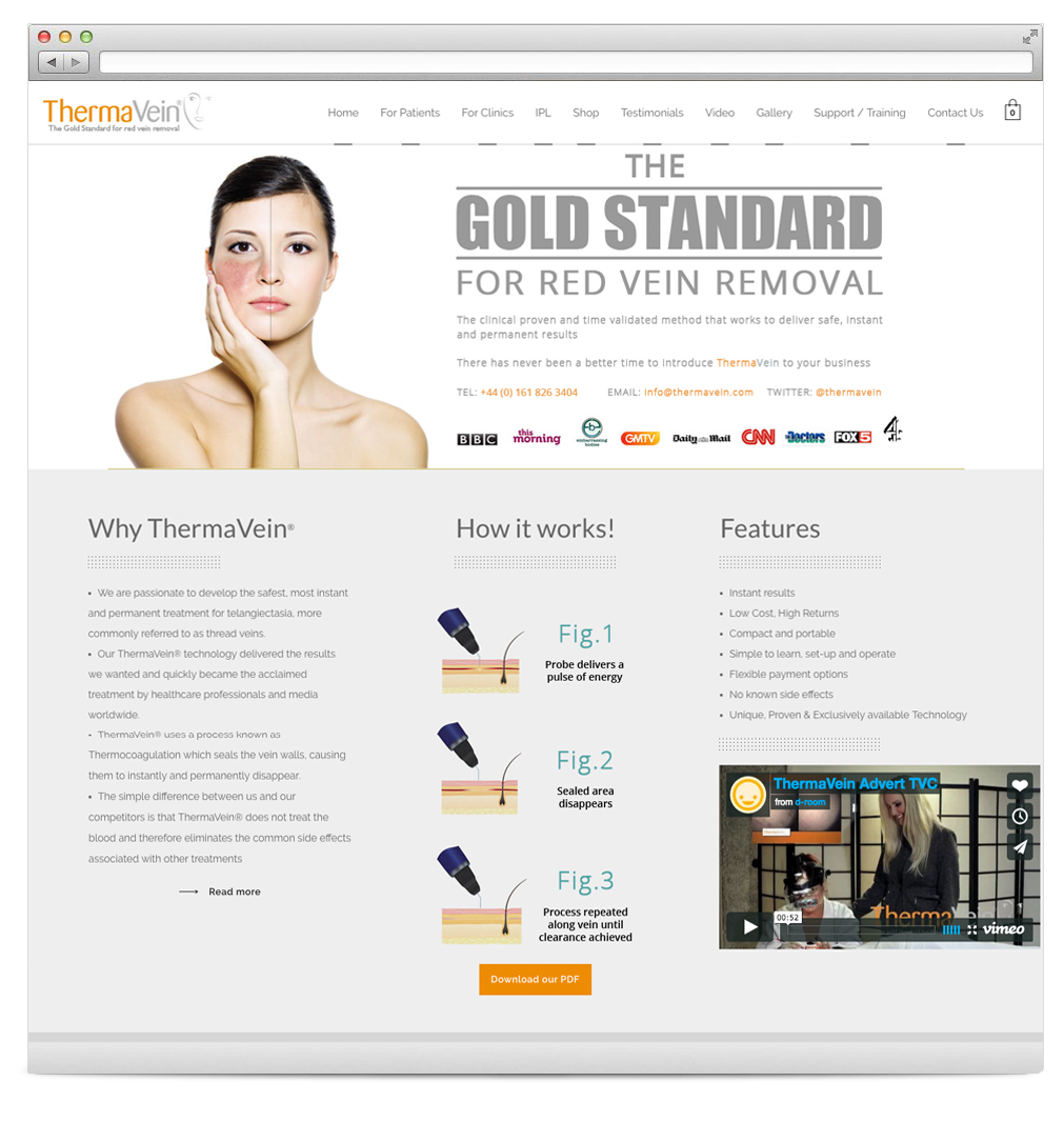 Thermavein Website Development