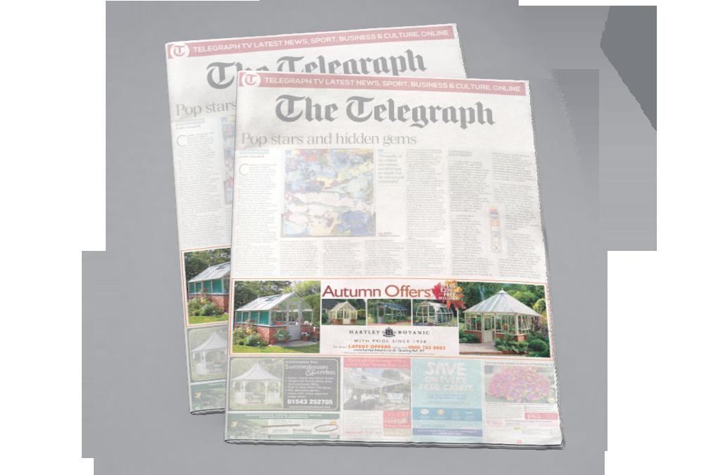 HARTLEY BOTANIC NEWSPAPER ADS