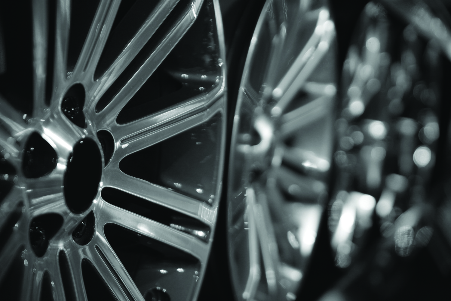 Da Techs - Row of silver alloy rims