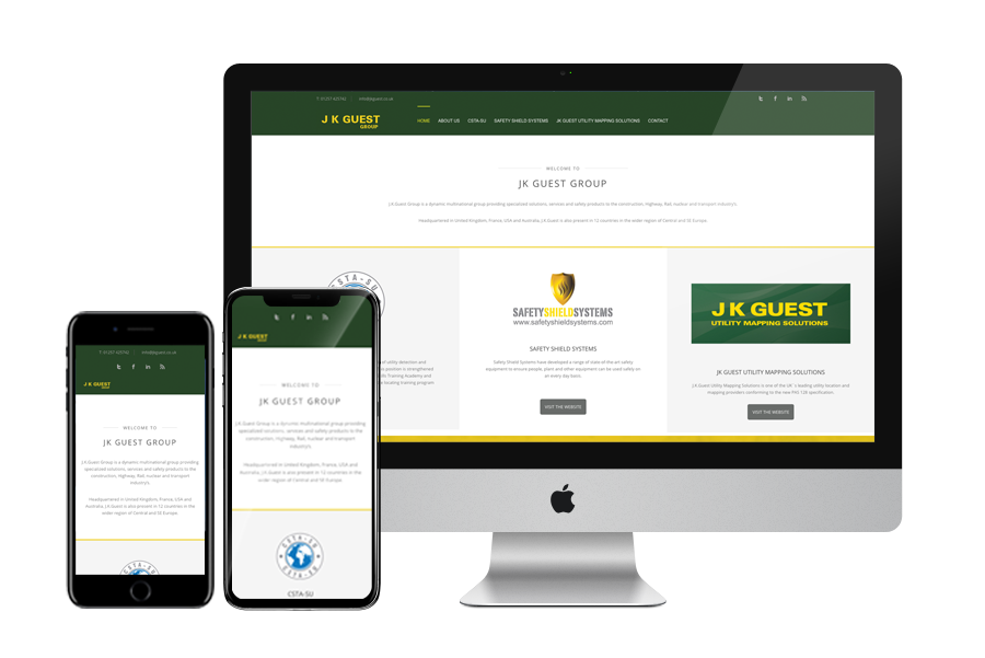 the JK Guest website displayed on various devices