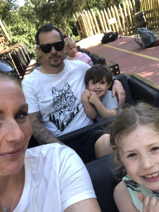 rachel-lilley-relative family picture on a miniature train