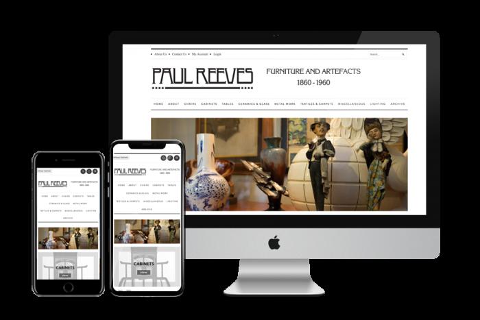 paul reeves web design displayed on a mac