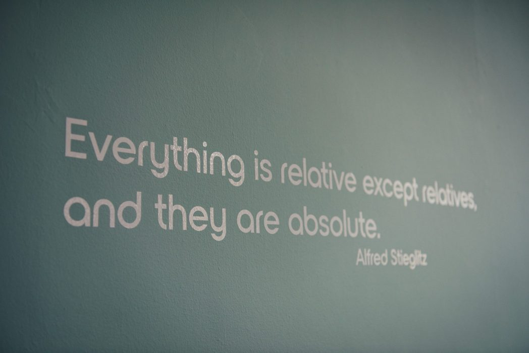 Relative Marketing quotation on our office wall as part of our professional development goals